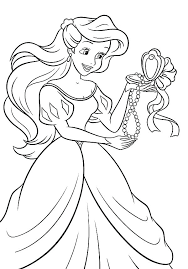 Ariel Baby Princess Coloring Pages