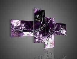 purple gray and black wall art