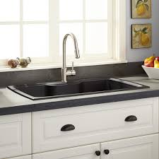 Granite Sinks Kitchen 35 Lorman Drop In Granite Composite Sink Black Kitchen