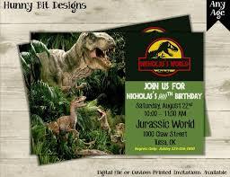 Jurassic Park Invitations Jurassic World Invitation Jurassic Park Invitation Dinosaur Invitation Dinosaurs T Rex Raptors Boy Invitation Any Age