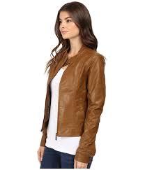 cruel girl sassy women s brown vegan leather jacket