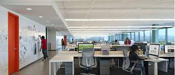 Office lighting solutions Lighting Layout Plan Industrial Commercial Lighting Places For Example Supermarkets Hypermarkets Shopping Malls Warehouses Workshops Exhibition Center Factory Sanli Led Lighting Best Office Lighting Solutions Linear Led Pendant Sanli Led Lighting
