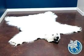 polar bear skin rugs rug faux with head browse category fur