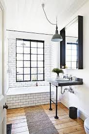 bathroom inspiration classic black and white