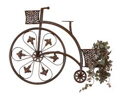 on iron bike wall decor with basket with elegant wrought iron bicycle and wicker baskets metal wall decor