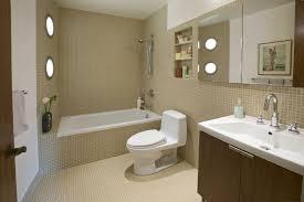 sleek brown contemporary bathroom