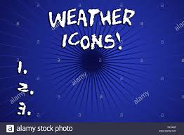 Synoptic Chart Word Writing Text Weather Icons Business Photo Showcasing