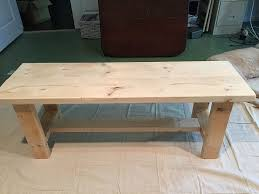 before paint construct a bench farmhouse bench plans at refreshrestyle com