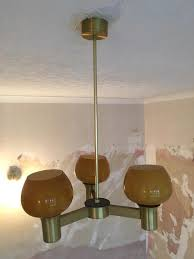 1970s light fixtures new vintage ceiling fitting with orange glass shades in regard to 4