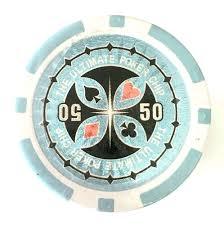 Light Blue Poker Chips Rolls Of 25 Ultimate Poker Chips Value 50 Light Blue