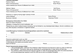 Best Free Fillable Forms » Child Care Enrollment Forms | Free ...