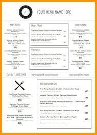 Word Restaurant Menu Templates Cafe Menu Template Word Free Printable Restaurant Menu Templates