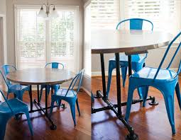 Industrial Style Round Dining Table 54 Farmhouse Table Style Round Kitchen Table Or Dining Table By