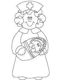 Nurse Coloring Pages Luvsiteinfo