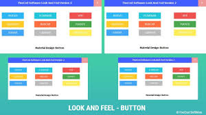 Java Material Design Look And Feel Material Design Look And Feel Version 2 Java Netbeans Button