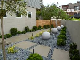 Japanese Garden In Modern Design With River Rock And Granite Orbs (Image 3  of 10
