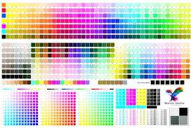 Montage Size Chart Montage Colour Chart Cmyk