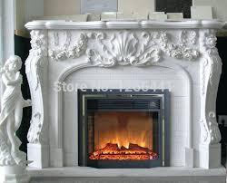 electric fireplace mantels fireplace set carved marble fireplace mantel with electric fireplace insert led optical artificial