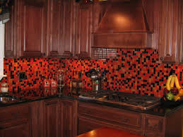 black tile kitchen countertops. Kitchen. Great Red And Black Tile Kitchen Backsplash With Nice Blac Countertop Wooden Cabinet Countertops