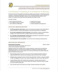 Non Profit Resume Samples Spectacular Events Manager Resume Sample