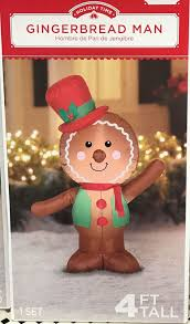 <b>Airblown Inflatable Gingerbread Man</b> 4ft tall by Gemmy Holiday Time ...