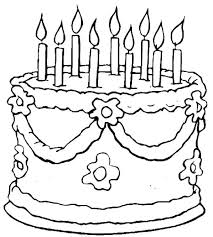 Birthday Cake Coloring Sheet Birthday Cake No Candles Coloring Page
