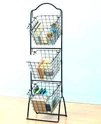 2 tiered storage stand bathroom fruit baskets tier basket 3 black three french wire tiered storage racks stand 3 tier basket metal