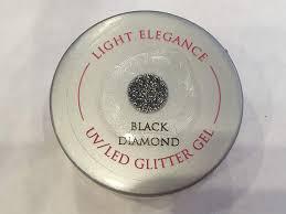 Light Elegance Diamond Glitter Amazon Com Light Elegance Black Diamond Glitter Gel Pod Beauty