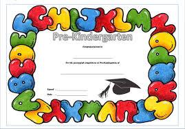 Prek Diploma Kindergarten Graduation Certificate Good Pre K Award Certificate