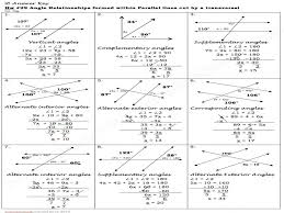 Maths Worksheets Angles In Parallel Lines – Guillermotull.COM