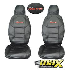 toyota hilux revo single cab 15 on custom logo seat covers pvc leather look no