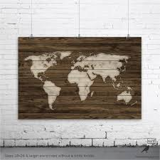 World Map Poster Rustic Map Poster Rustic Decor Rustic Wall For Framed  World Map Wall Art