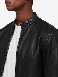 allsaints cora leather jacket jet black short mens leather suede jackets 100 leather allsaints eybt up to 69 off
