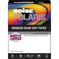 Boise Polaris Premium Color Copy Paper 98 Bright 28lb Letter