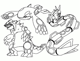 Pokemon Coloring Pages Groudon And Kyogre Tesouroliterariocom