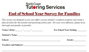 School Survey Questions Free End Of School Year Survey For Families