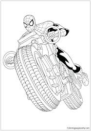 Spiderman coloring pages to online paint. Spiderman With Motorcycle Coloring Pages Spiderman Coloring Pages Free Printable Coloring Pages Online