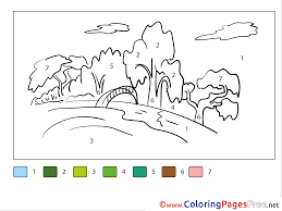 Download 92 holiday coloring pages for free! Nature Download Painting By Number Coloring Pages
