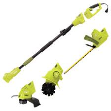 4 5 amp electric lawn and garden multi tool system hedge pole trimmer grass trimmer garden tiller