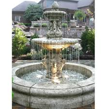 outdoor cavalli fountain with fiore pond