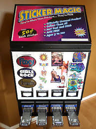 Vending Machine Sticker Refills Enchanting GIANT TATTOO STICKER Bulk Vending Machine Business Pokemon NFL Cards