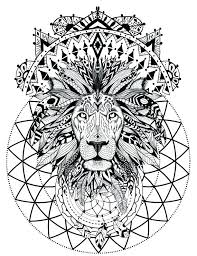 Lion Mandala Coloring Pages Really Encourage At Getcolorings Com