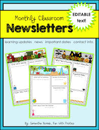 Free Teacher Newsletter Templates Teacher Newsletter Templates Word Preschool Image Excel Template