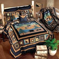 Two Tone Quilts Rustic Country Quilt Patterns Rustic Country ... & Rustic Country Quilt Patterns Rustic Country Quilt Sets Rustic Country  Quilts Cabin Quilts Midnight Bear Rustic ... Adamdwight.com
