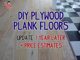 how our plywood floors held up after a full year plus estimates