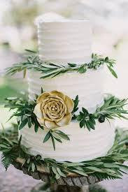 Rustic Elegant Wedding Cake With Greenery
