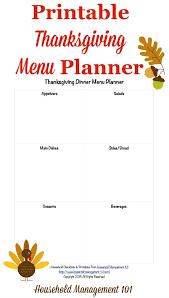 Thanksgiving Menu Planner Template Under Fontanacountryinn Com
