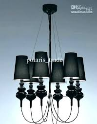 mini chandeliers lamp shades black chandelier tadpoles 4 light diy
