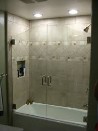mind blowing half glass door shower for bathtub i