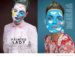 guinevere van seenus wears bold face paint